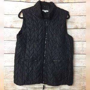 Coldwater Creek Black Puffer Vest